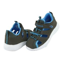 Sandałki z piętą na rzepy KangaRoos 02058 szary niebieskie szare 4