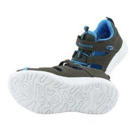 Sandałki z piętą na rzepy KangaRoos 02058 szary niebieskie szare 5