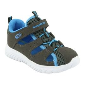 Sandałki z piętą na rzepy KangaRoos 02058 szary niebieskie szare 1