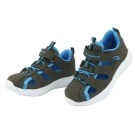 Sandałki z piętą na rzepy KangaRoos 02058 szary niebieskie szare 3