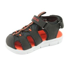 Sandałki sportowe Kangaroos 02035 pomarańczowe szare 2