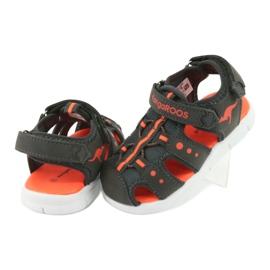 Sandałki sportowe Kangaroos 02035 pomarańczowe szare 4