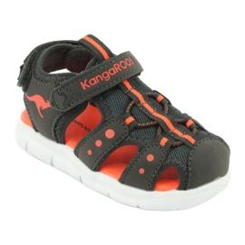 Sandałki sportowe Kangaroos 02035 pomarańczowe szare 1