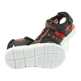 Sandałki sportowe Kangaroos 02035 pomarańczowe szare 5