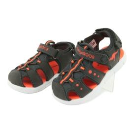 Sandałki sportowe Kangaroos 02035 pomarańczowe szare 3
