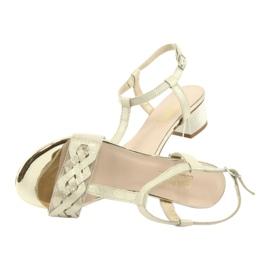 Sandały damskie Gamis 3936 beż/złoty beżowy 5