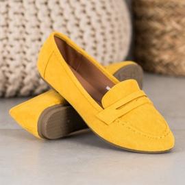 Fama Klasyczne Mokasyny żółte 1