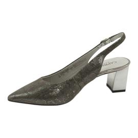 Sandały damskie na słupku Caprice 29605 2