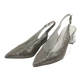 Sandały damskie na słupku Caprice 29605 3