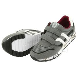 Szare Buty Sportowe chłopięce American Club ES02 białe czarne czerwone 5