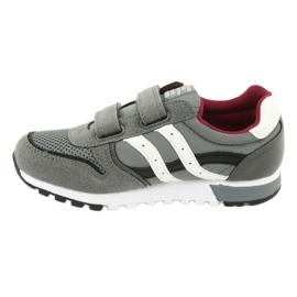 Szare Buty Sportowe chłopięce American Club ES02 białe czarne czerwone 2
