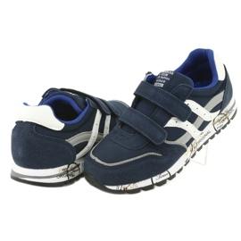Granatowe Buty Sportowe chłopięce American Club ES02 4