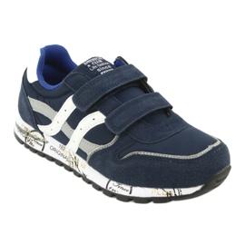 Granatowe Buty Sportowe chłopięce American Club ES02 1