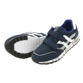 Granatowe Buty Sportowe chłopięce American Club ES02 5