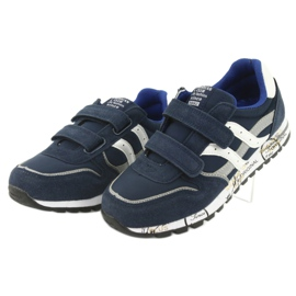 Granatowe Buty Sportowe chłopięce American Club ES02 3
