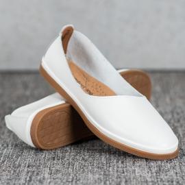 Skórzane Buty Slip On VINCEZA białe 1