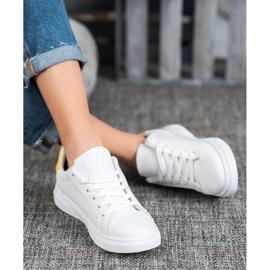 SHELOVET Sportowe Buty Z Ozdobnym Suwakiem białe 3