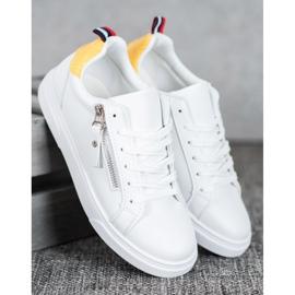 SHELOVET Sportowe Buty Z Ozdobnym Suwakiem białe 1
