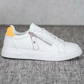 SHELOVET Sportowe Buty Z Ozdobnym Suwakiem białe 5