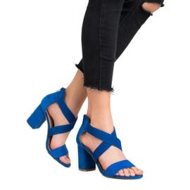 Chabrowe Sandały Na Suwak VINCEZA niebieskie 2