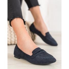 Best Shoes Zamszowe Mokasyny W Szpic 3