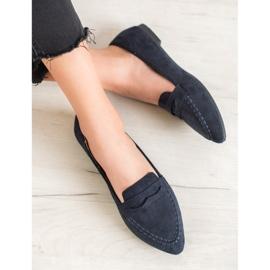 Best Shoes Zamszowe Mokasyny W Szpic 4