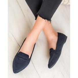 Best Shoes Zamszowe Mokasyny W Szpic 5