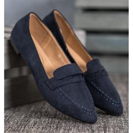Best Shoes Zamszowe Mokasyny W Szpic 1