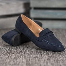 Best Shoes Zamszowe Mokasyny W Szpic 2