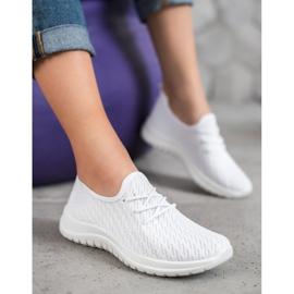 SHELOVET Białe Ażurkowe Buty Sportowe 4