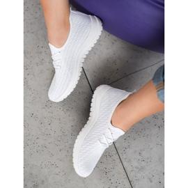 SHELOVET Białe Ażurkowe Buty Sportowe 1