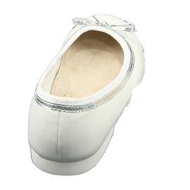 Balerinki z kokardą biała perła American Club GC29/19 białe wielokolorowe 3
