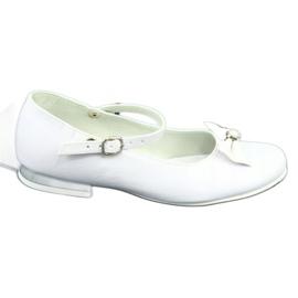 Balerinki komunijne białe Miko 806 szare 5