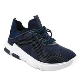 Granatowe obuwie sportowe męskie LF21-2 1