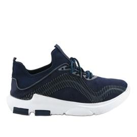 Granatowe obuwie sportowe męskie LF21-2 2