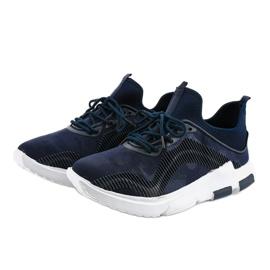 Granatowe obuwie sportowe męskie LF21-2 3