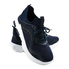 Granatowe obuwie sportowe męskie LF21-2 4