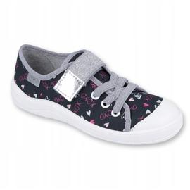 Befado obuwie dziecięce 251Q142 czarne szare 1