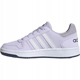 Buty adidas Hoops 2.0 K Jr EG9075 fioletowe 3
