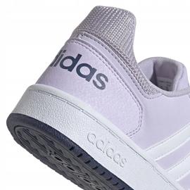 Buty adidas Hoops 2.0 K Jr EG9075 fioletowe 4