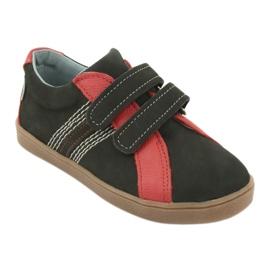 Buty chłopięce na rzepy Mazurek 1235 czarne czerwone 1