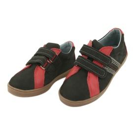 Buty chłopięce na rzepy Mazurek 1235 czarne czerwone 3