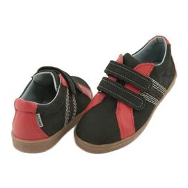 Buty chłopięce na rzepy Mazurek 1235 czarne czerwone 5