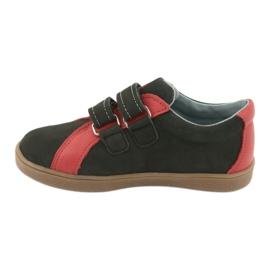 Buty chłopięce na rzepy Mazurek 1235 czarne czerwone 2