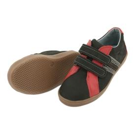 Buty chłopięce na rzepy Mazurek 1235 czarne czerwone 4