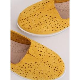 Baleriny ażurowe miodowe ZA02P Yellow żółte 4