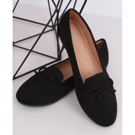 Mokasyny damskie czarne 9F127 Black 3