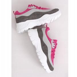 Buty sportowe wielokolorowe 902-3 Grey różowe 1