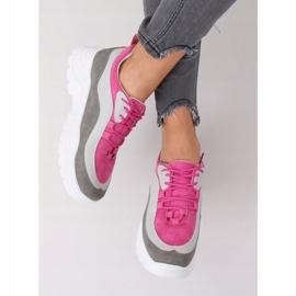 Buty sportowe wielokolorowe 902-3 Grey różowe 3
