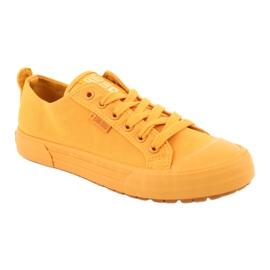 Trampki wiązane żółte Big Star FF274A086 1